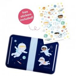 A Little Lovely Company - Śniadaniówka Lunchbox Astronauta z naklejkami
