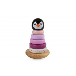 Piramidka z pingwinkiem różowa