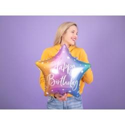 Balon foliowy Happy Birthday, 40cm, mix