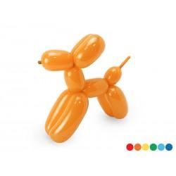 Balony modeliny pastelowe 130cm z pompką, mix (1 karton / 40 op.) (1 op. / 30 szt.)