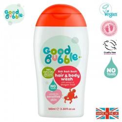 Good Bubble Wegański organiczny żel do mycia włosów i ciała Noworodka i Niemowlaka Dragon Fruit & Pitaya 100 ml