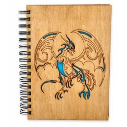 Szkicownik z drewnianą okładką - SMOK