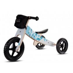 Rowerek biegowy drewniany niebieski