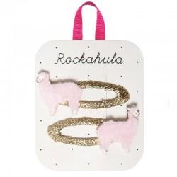 Rockahula Kids - 2 spinki do włosów Lottie Llama