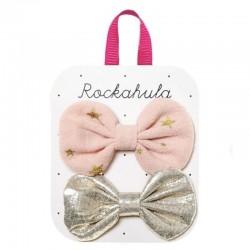 Rockahula Kids - 2 spinki do włosów Scattered Stars Bow Pink