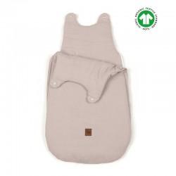 Hi Little One - śpiworek z organicznej BIO bawełny oddychającej GOTS NEWBORN SLEEPBAG BEIGE muslin cotton TOG 3,5 wiek 0 m+