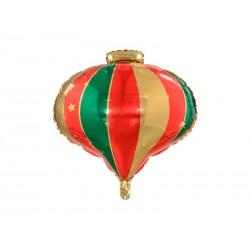 Balon foliowy Bombka, 51x49cm, mix (1 karton / 50 szt.)