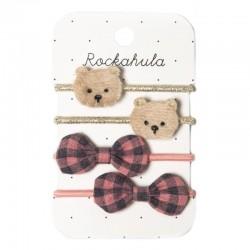 Rockahula Kids - 4 gumki do włosów Teddy Bear