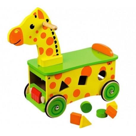 Drewniany jeździk szalona Żyrafka