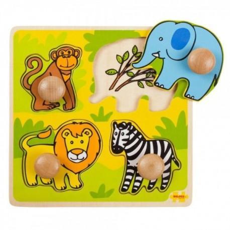 Puzzle układanka z uchwytami dla najmłodszych Safari