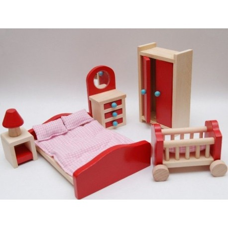 Mebelki do sypialni wyposażenie domków dla lalek