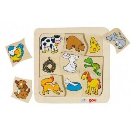 GOKI Puzzle - Co jedzą zwierzątka?