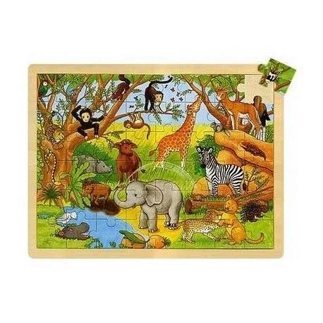 Ogromne puzzle drewniane Afryka