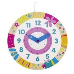Kolorowy drewniany zegar Susibelle GOKI