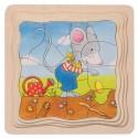 Puzzle warstwowe Myszka sadzi dynię