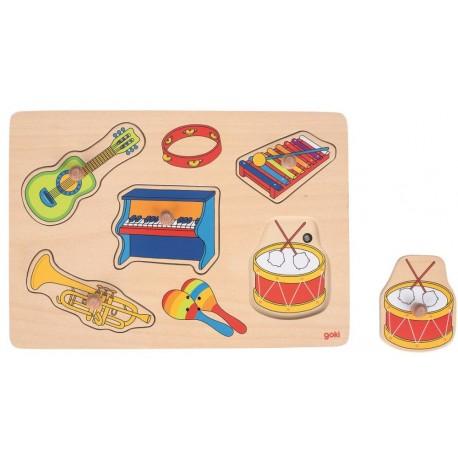 Puzzle dźwiękowe - Instrumenty muzyczne