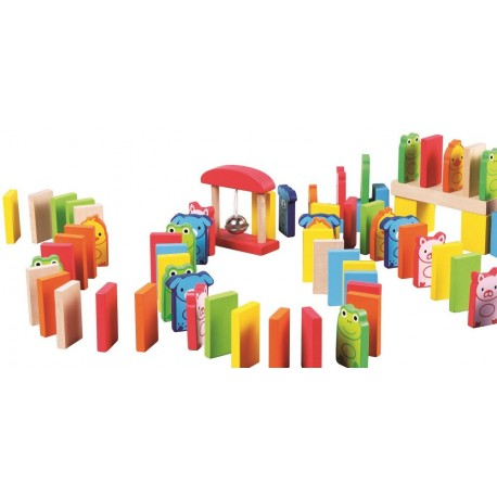 Kolorowe domino - 110 elementów