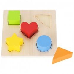 Goki mała układanka kształty i kolory