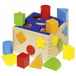 Drewniany sorter z klockami dla dziecka GOKI
