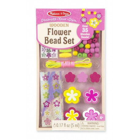 Biżuteria Kwiatuszki - zestaw do nawlekania z naklejkami