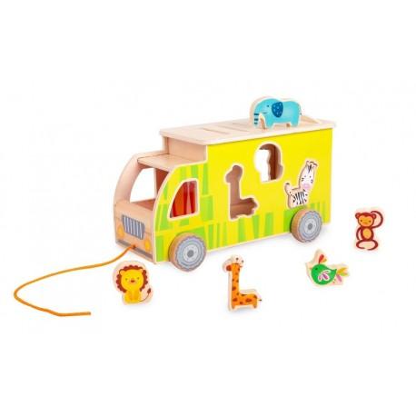 Sorter dla dziecka Ciężarówka Safari + 6 zwierząt