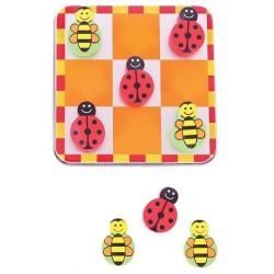 Kółko i krzyżyk Biedronki i pszczółki