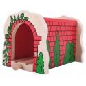 Tunel kolejowy z czerwonych cegieł