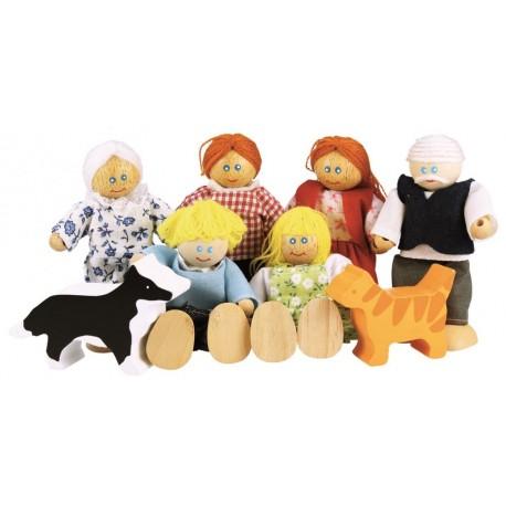 Rodzina - drewniane lalki do domku