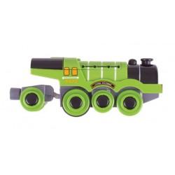 Lokomotywa elektryczna na baterie - zielona