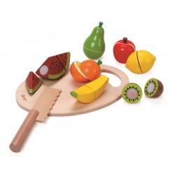 Owoce do nauki krojenia na desce
