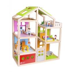 Drewniany domek dla lalek Szczęśliwa Willa