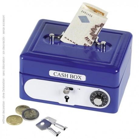Skarbonka Sejf niebieski z kluczem i szyfrem