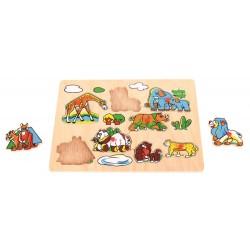 Puzzle drewniane układanka Safari