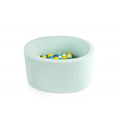 Suchy basen z piłeczkami 90x30 okrągły - kolor