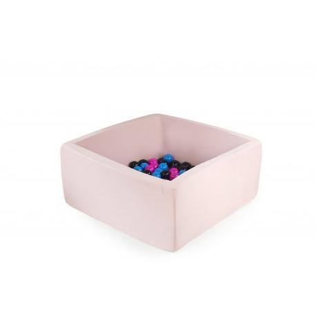Suchy basen z piłeczkami 90x40x40 - pudrowy róż 300 piłeczek
