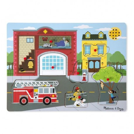 Puzzle dźwiękowe - Remiza strażacka