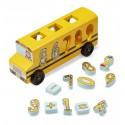Autobus szkolny sorter z cyferkami