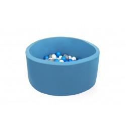 Suchy basen dla dzieci z piłeczkami 90x30 okrągły - turkusowy