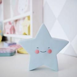 Lampka dziecięca LED gwiazdka błękitna