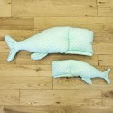 Poduszka wieloryb Miętowy szyk mała