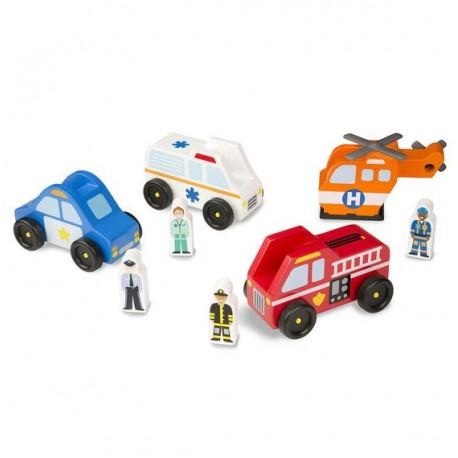 Zestaw pojazdów ratunkowych - 4 sztuki