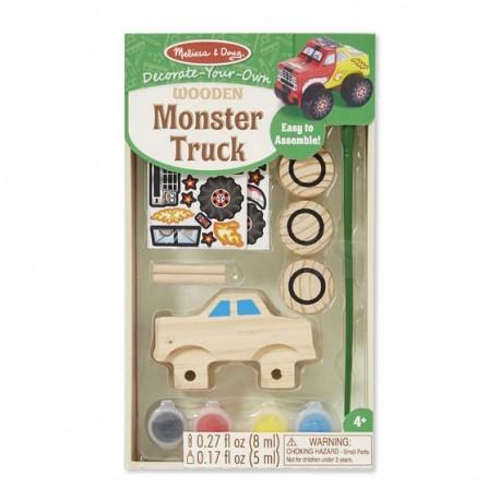 Monster truck do złożenia i pomalowania
