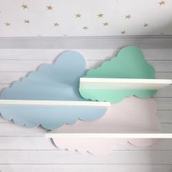 Drewniane półka chmurka do pokoju dziecięcego - duża