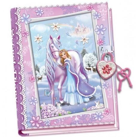 Pamiętnik z kłódką Zimowa Księżniczka