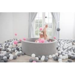 Suchy basen dla dzieci z piłeczkami 115x50 okrągły 600 szt. piłek