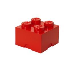 Pojemnik w kształcie klocka LEGO 4 - czerwony