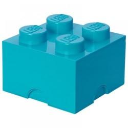 Pojemnik w kształcie klocka LEGO 4 - lazurowy