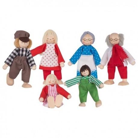 Drewniane lalki do domku Rodzinka Farmera GOKI