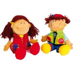 Lalki z zapięciami Dawid i Natalia