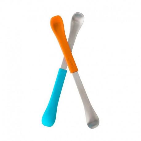 Boon - Dwustronne łyżeczki Orange/Blue